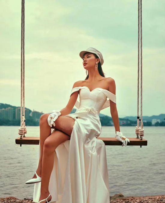 áo cưới nhẹ nhàng ANN -128